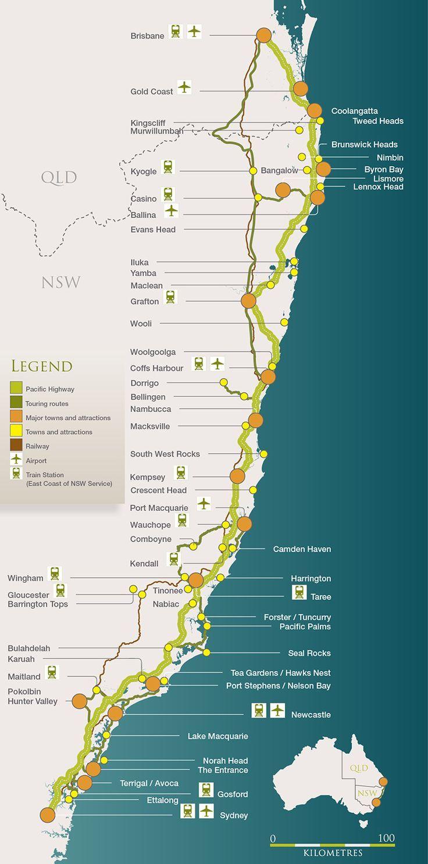 The Legendary Pacific Coast - Australia's Top Touring Drive - Sydney to Brisbane, Australia