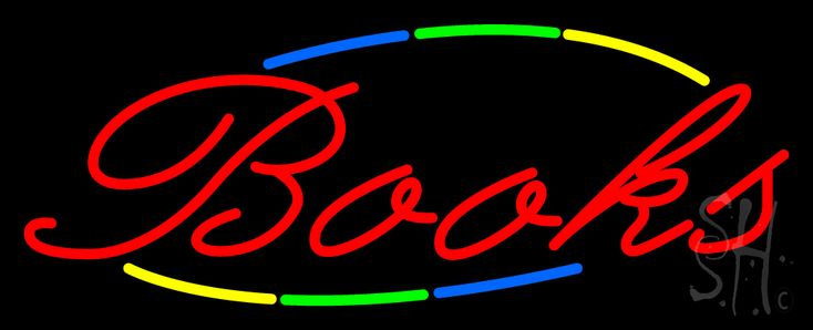 Multi Colored Books Neon Sign 13 Tall x 32 Wide x 3 Deep, is 100% Handcrafted with Real Glass Tube Neon Sign. !!! Made in USA !!!  Colors on the sign are Blue, Green, Yellow and Red. Multi Colored Books Neon Sign is high impact, eye catching, real glass tube neon sign. This characteristic glow can attract customers like nothing else, virtually burning your identity into the minds of potential and future customers.