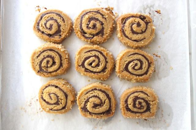 Peanut Butter Chocolate Swirl Cookies; via the little epicurean.