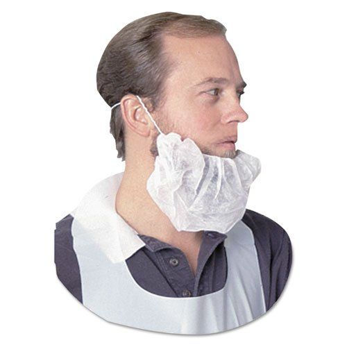 Impact Spunbond Polypropylene Beard Net, White, One Size Fits All - 100 beard nets. FDA Compliant. Ensure a neat and clean working environment with sturdy, spunbond polypropylene beard nets. Sturdy, spunbond polypropylene. Size Group: One Size Fits All. Includes 100 beard nets. Full-coverage protection meets the needs of healthcare, lab and food prep professionals. Material(s): Spunbond Polypropylene. Full-coverage protection; excellent for healthcare, labwork and food handling...