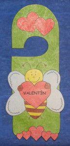 Valentínska visačka na dvere