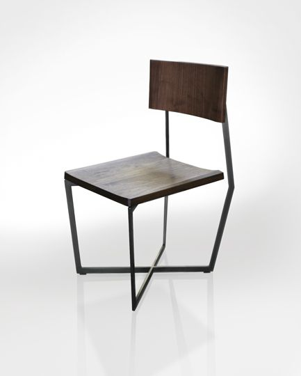 Cool chair from Atlas Industries.: Decor Ideas, Woods Chairs, Beautiful Interiors, Interiors Design, Blackened Steel, Chairs Atlas, Folding Chairs, Atlas Industrial, Chairs Design