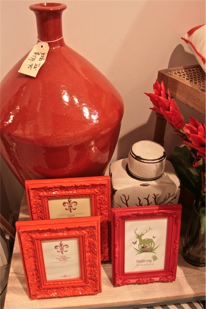 Collection of orange home wares