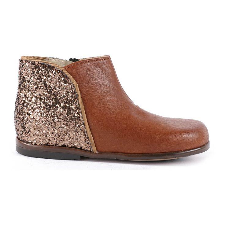 Boots Paillettes et Cuir Zippées Clotilde-product