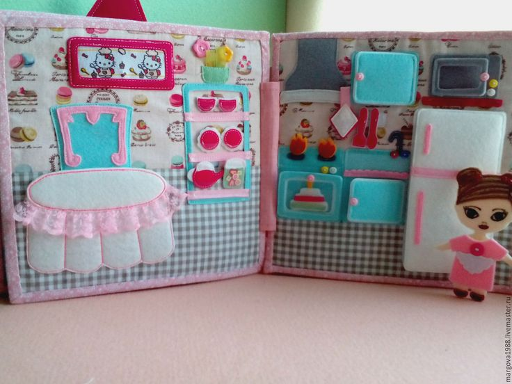 """Купить Развивающая книжка """"Кукольный домик"""" - комбинированный, развивающая игрушка, развивающая книжка, развивающая книга"""