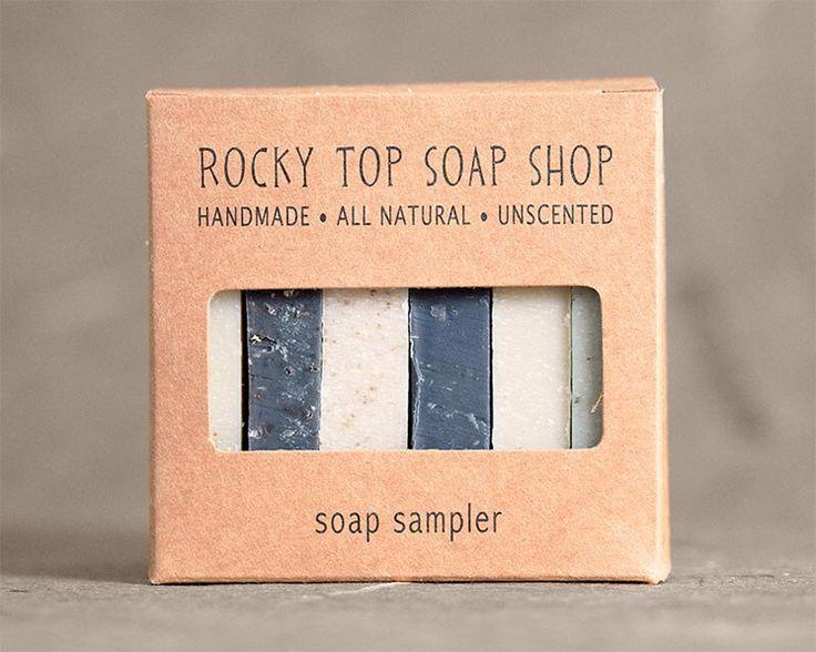 Men's Soap Sampler - All Natural Soap, Handmade Soap, Cold Process Soap, Unscented Soap, Vegan Soap, Men's Soap by RockyTopSoapShop on Etsy https://www.etsy.com/listing/269986363/mens-soap-sampler-all-natural-soap