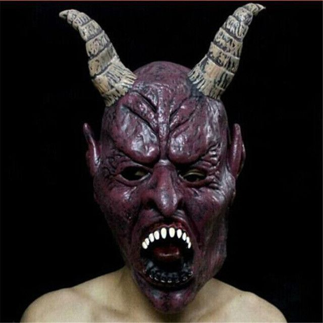 Scary Unicorn Bloody Bane Face Off Horror Halloween Costume Masks Realistic silicone Cattle Animal masks Carnaval Easter 2017