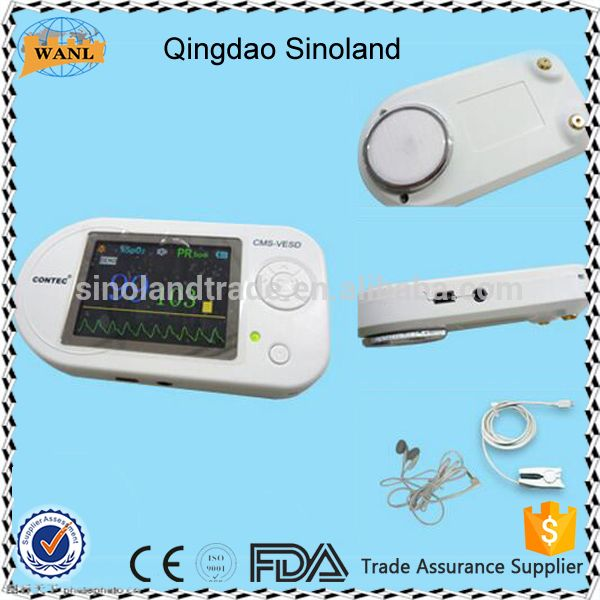 Hot Sale Visual Multi-Function Electronic Stethoscope ,with with adult probe,ECG,SPO2,PR,Color LCD