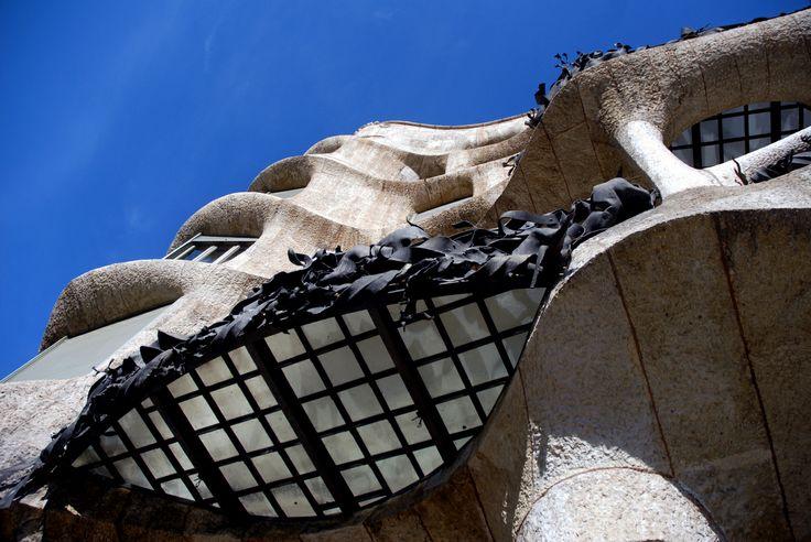Casa Mila.Barcelona Spain.Antoni Gaudi