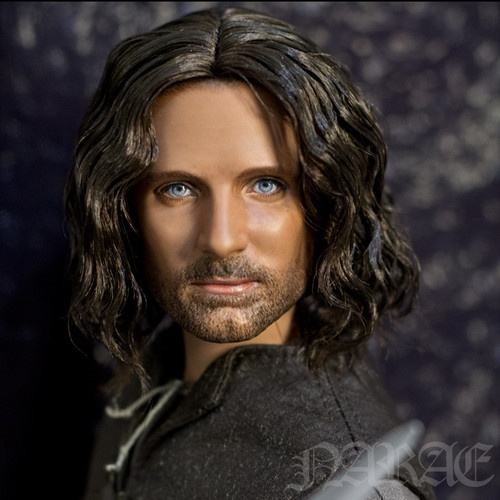 """OOAK Aragorn The Lord of The Ring 17"""" Tonner Male Repaint Portrait Doll Outfit"""