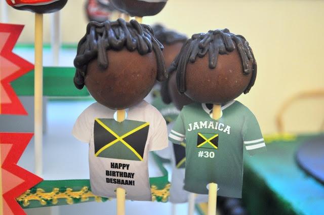 Jamaican Island Rasta Party from Bottle Pop Party Co - Soccer Cake Pops #cakepops from @Jamie Golden