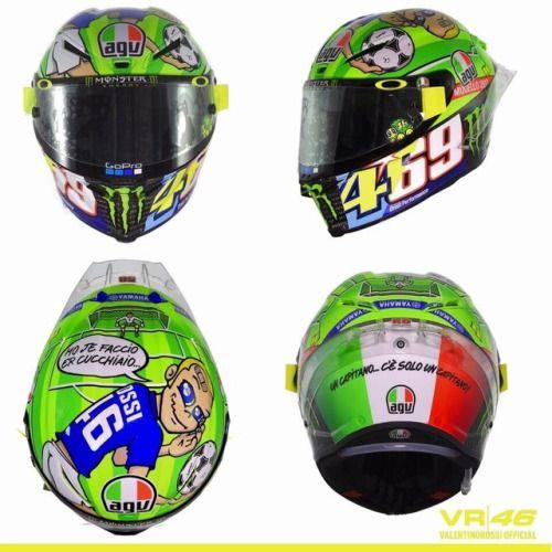 "Rossi's ""469"" Nicky Hayden helmet at Mugello 6/3 & 6/4/2017 ♡♡♡"
