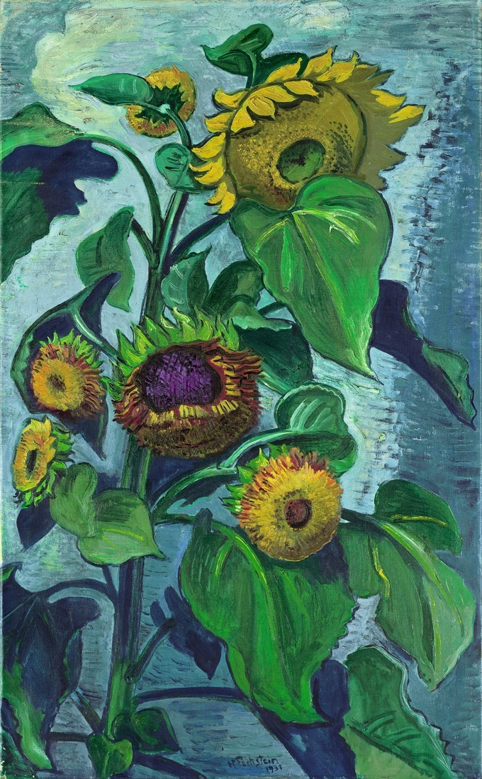 Sonnenblumen, 1931. Oil on canvas - Max Pechstein (German, 1881-1955) Expressionism
