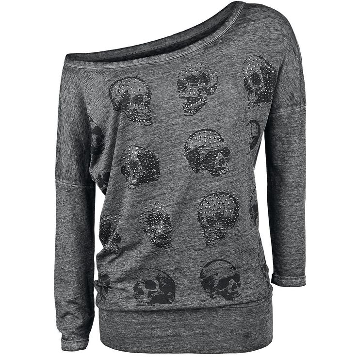 Skull Pad Burnout Longsleeve - Langarmshirt von Rock Rebel by EMP