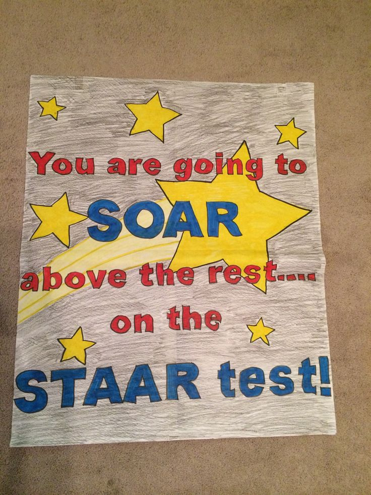 You are going to SOAR above the rest on the STAAR TEST!
