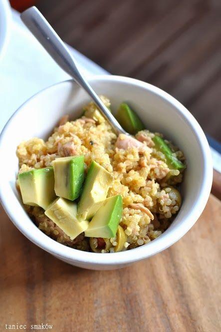 Tuna, olives and avocado quinoa / Quinoa z tuńczykiem, odżywczo na start