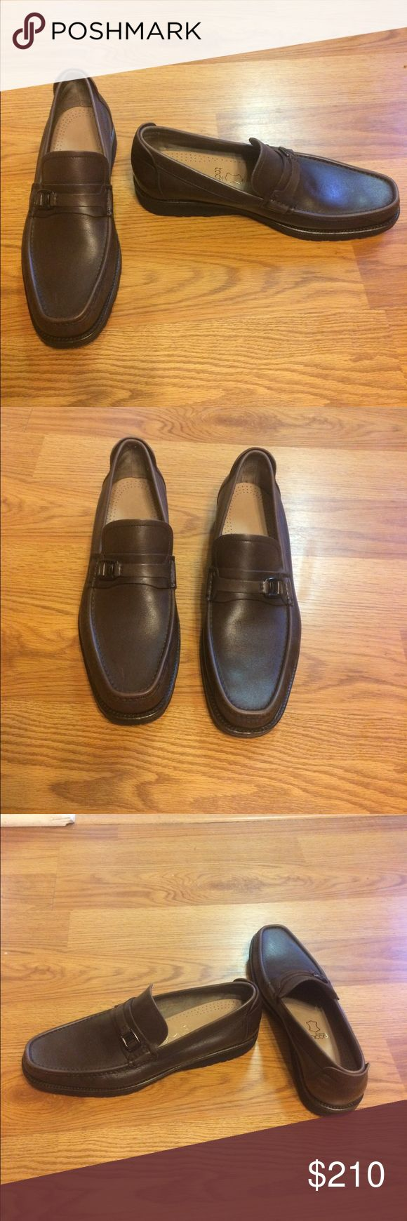 Salvatore Ferragamo loafers Classic and comfy, men's designer leather Bit loafers made in Italy! They are chocolate brown with rubber soles and ornament logo on straps! Gently worn in great condition but inside soles are newly replaced. Salvatore Ferragamo Shoes Loafers & Slip-Ons
