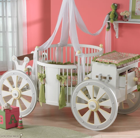 Outrageously priced carriage inspired baby crib
