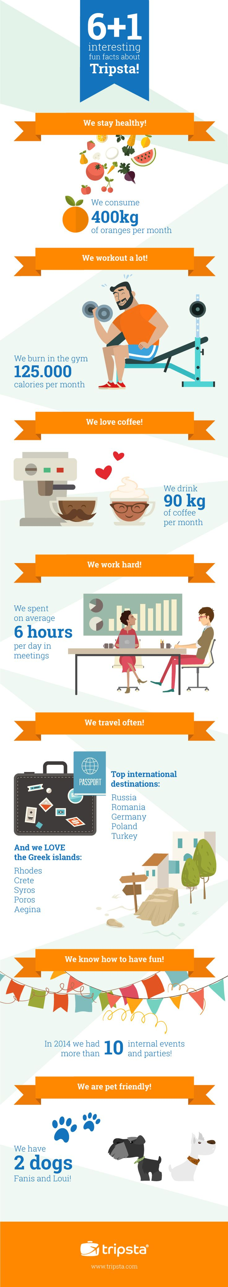 6+1 interesting fun facts about Tripsta! #Infographic #tripsta