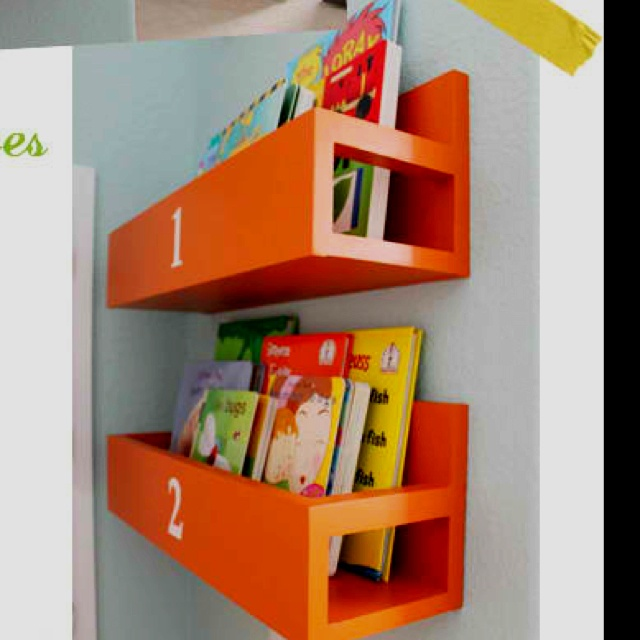 Diy nursery book case