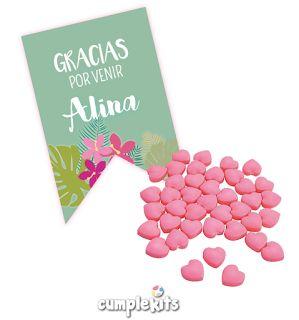 Tarjeta de agradecimiento. Kit imprimible de flamencos.