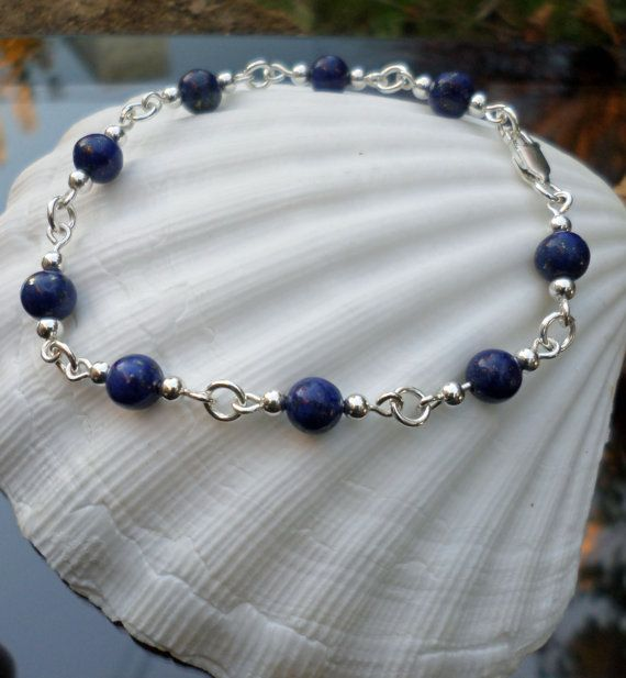 Handmade Bracelet with Lapis Lazuli and sterling by TommyDark
