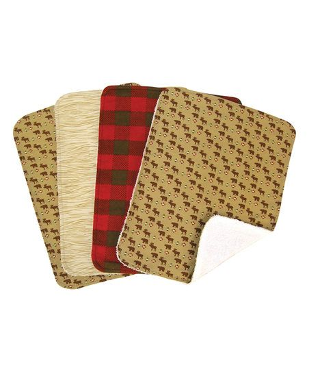Trend Lab Northwood Burp Cloth - Set of Four | zulily