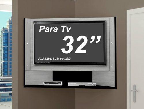 Fotos De Sala Com Tv Lcd Na Parede ~ 17 melhores ideias sobre Bancada De Canto De Tv no Pinterest  Tv de