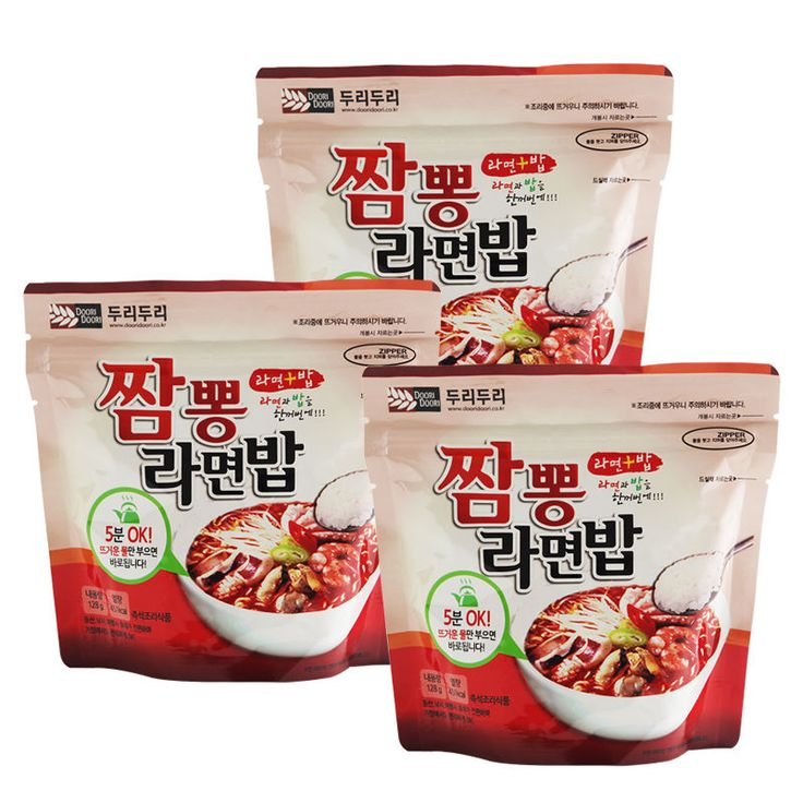 Korean Food Seafood Noodle&Rice Ramenbap Asian Food MRE Hot Water Need Only *3EA | Sporting Goods, Outdoor Sports, Camping & Hiking | eBay!