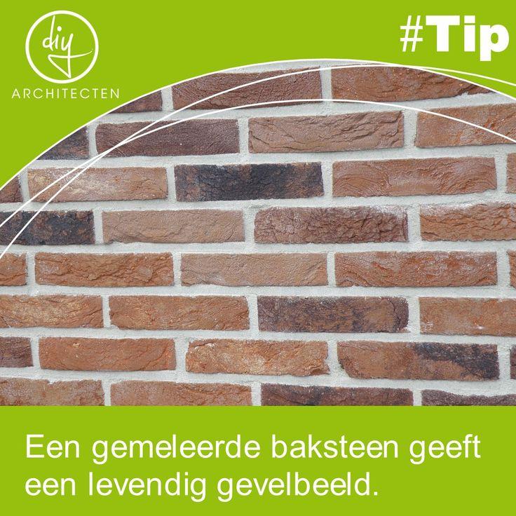 #Tip: Een gemêleerde baksteen geeft een levendig beeld aan je gevel. Dit kan zowel met gladde als met ruwe stenen.