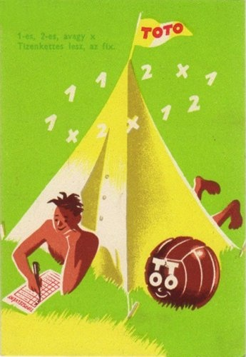 Lottery advertisement (1950s) Hungary