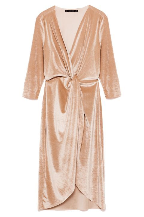 50 Wedding GUEST dresses you can wear to look fabulous at any winter wedding (without outshining the bride, of course). Try this Zara Crossover Velvet Dress!