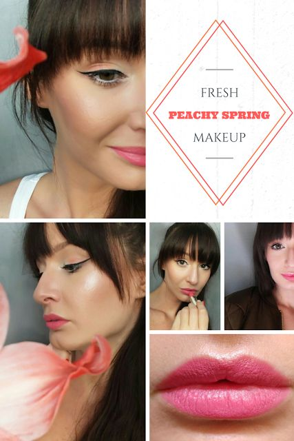 Fresh peachy spring makeup with Milani Lipstick in Fruit Punch - http://www.fromorsiwithlove.hu/2017/05/barackos-tavaszi-smink.html