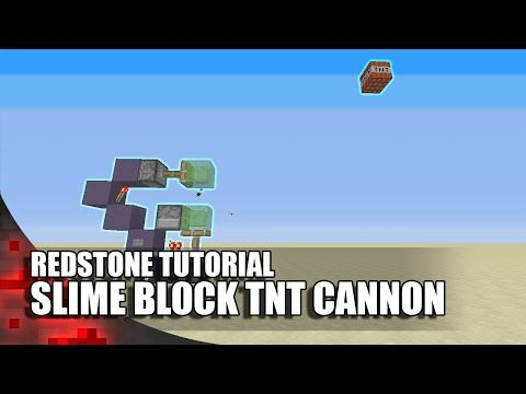 Minecraft: Simple Slime Block TNT Cannon! (Expandable!) - YouTube