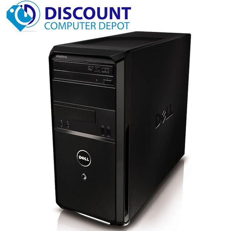Fast Dell Desktop Vostro Computer Windows 10 Tower Core i3 PC 4GB 160GB Wifi