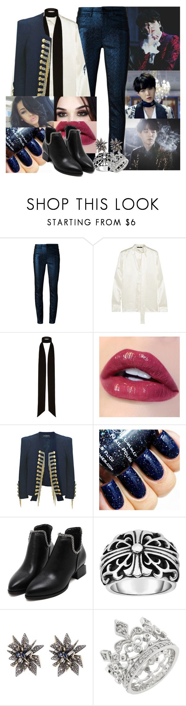 """""""Blood, Sweat and Tears Female BTS - Suga"""" by elliepetkova ❤ liked on Polyvore featuring Isabel Marant, Haider Ackermann, River Island, Balmain, Phillip Gavriel and Alexis Bittar"""