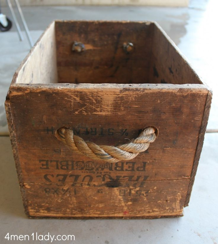 Vintage box crate turned toy box.