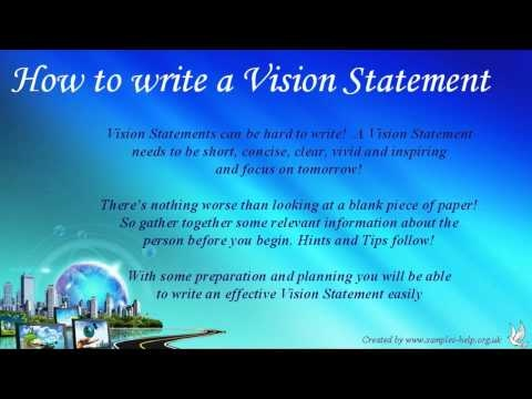Writing my personal vision statement