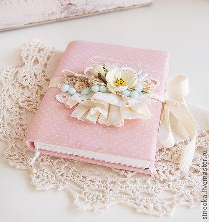 Блокноты ручной работы. Ярмарка Мастеров - ручная работа Розовый блокнот. Handmade.