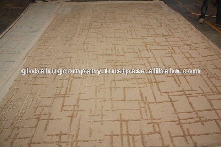 hand tufted custom size wool & art silk carpets ha…
