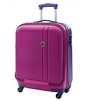 ABS Laptop Hard Shell Cabin Case Size 55x40x20cm Hand Luggage (Pink (Laptop Pocket))