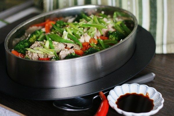 Steamed Asian Chicken and Vegetables - My Melbourne Thermomix #varoma #thermomix