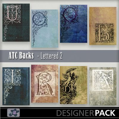 For Artist Trading Card lovers. 8 Backgrounds ready sized for you. [2.5 x 3.5 inches] NB These are NOT fullsized scrapbook papers. This set ...