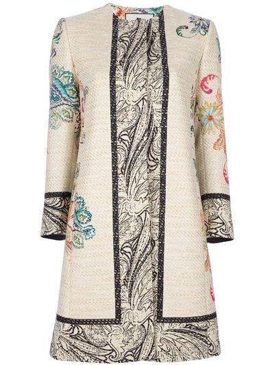 ETRO - Manteau imprimé floral 1