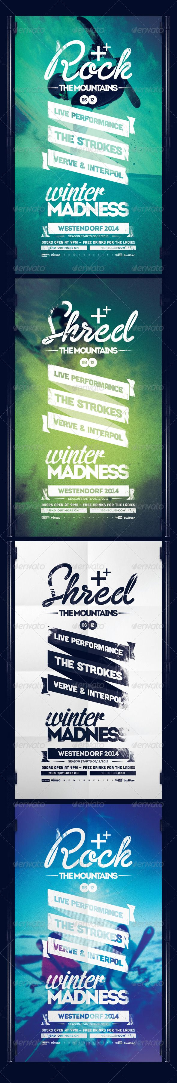 Flyer Series I Winter Madness — Photoshop PSD #winter #x games • Available here…