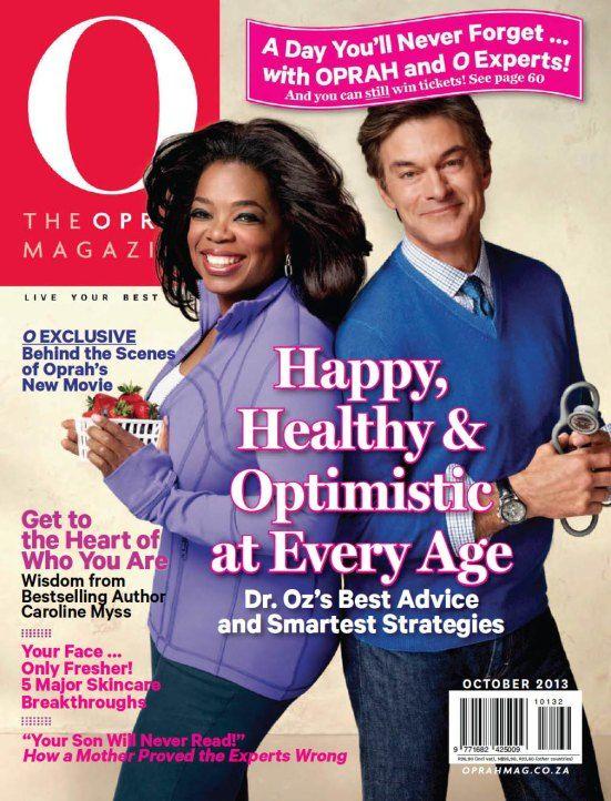 O Magazine Cover   October 2013