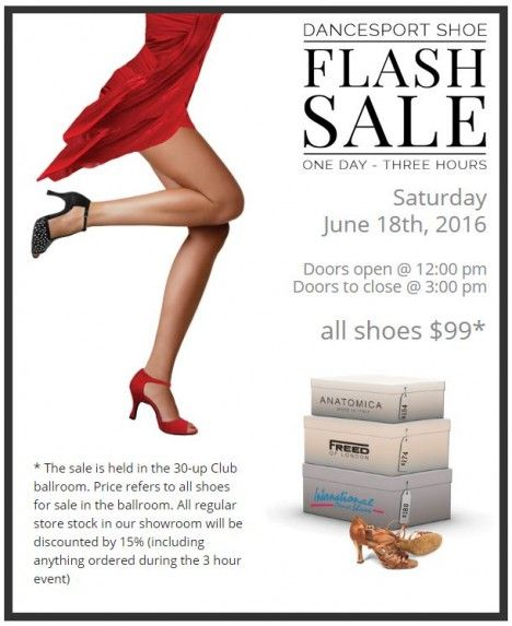 Dancesport Shoes Flash Sale June 18, 2016