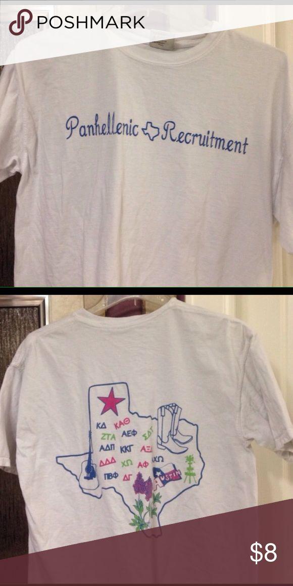 Sorority recruitment shirt White Texas recruitment shirt Tops Tees - Short Sleeve