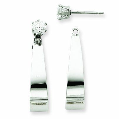 14k White Gold J Hoop w/CZ Earring Jackets. Gold Weight- 1.5g. Jewelry Pot. $194.99. Your item will be shipped the same or next weekday!. 100% Satisfaction Guarantee. Questions? Call 866-923-4446. Fabulous Promotions and Discounts!. 30 Day Money Back Guarantee. All Genuine Diamonds, Gemstones, Materials, and Precious Metals. Save 61%!