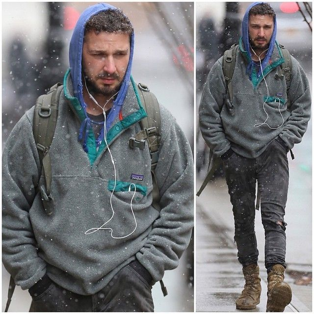Shia-Labeouf-wears-Patagonia-Lightweight-Synchilla-Snap-T-Fleece-Pullover-11 #patagoniafleece #patagonia #llbeanfleece At Eagleages.com we offer a great choice of Vintage Patagonia Fleece. We have also an Etsy Store https://www.etsy.com/shop/Eagleages?ref=hdr_shop_menu&section_id=18032612&pages=3